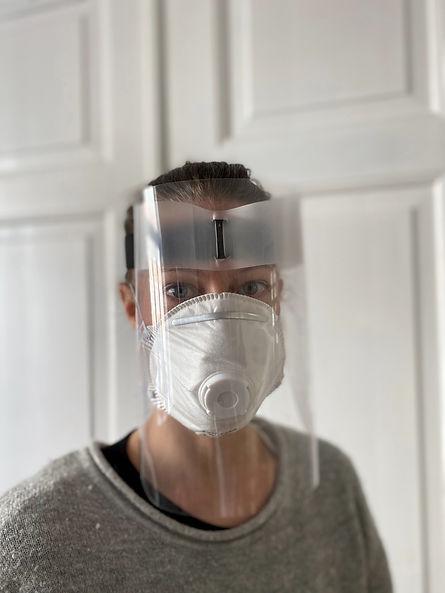viraShade - the most comfortable face shield.