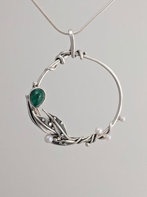 Dreams of Spring Emerald Pendant