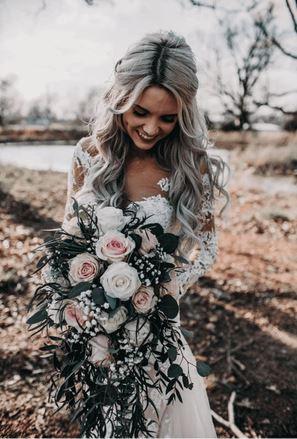 Beautiful bride at wedding venue in Joplin