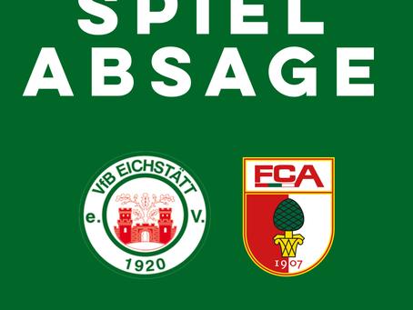 Heimspiel gegen den FC Augsburg II ist abgesagt