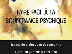 """TRIALOGUE """"FAIRE FACE À LA  SOUFFRANCE PSYCHIQUE"""""""