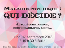 "TRIALOGUE ""MALADIE PSYCHIQUE : QUI DÉSCIDE ?"""