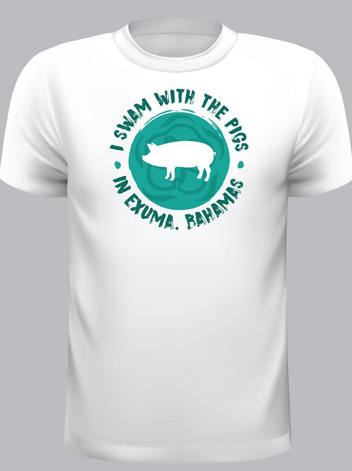 I Swam with the Pigs Long Sleeve Swim Shirt