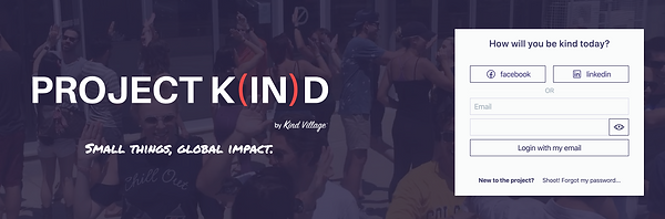 Project K(IN)D Landing Page