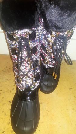 Tweed Snow Boots