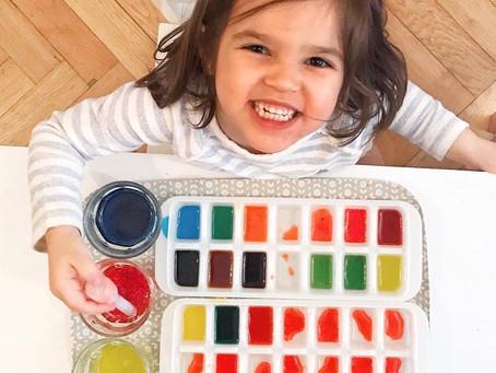 4 propuestas con agua y colorante