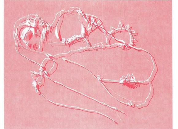 Awakening to Love Print Cupids Red