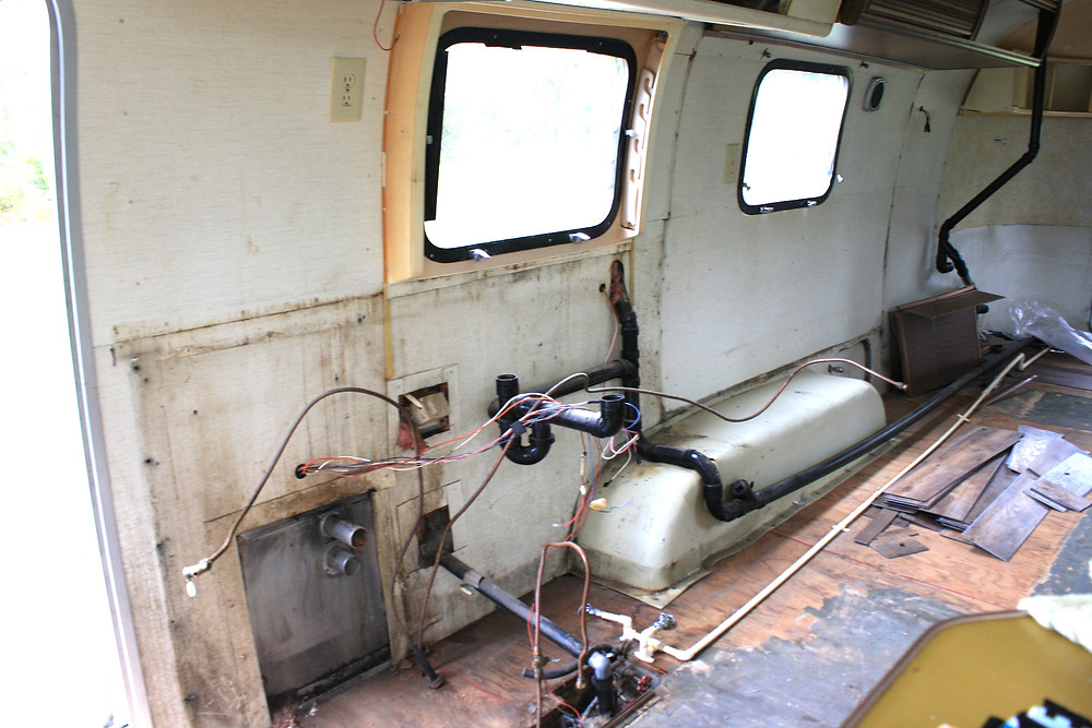 picture of Airstream interior kitchen