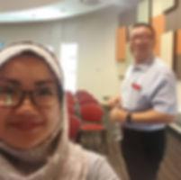 Coach Edwin Lim with Cikgu Lina