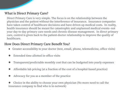 What is Direct Primary Care?