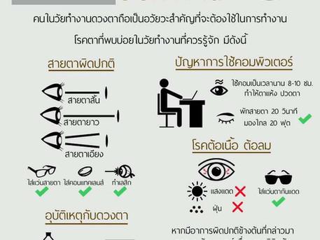 อาการและโรคตาของคนวัยทำงาน