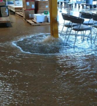 Flooding warehouse