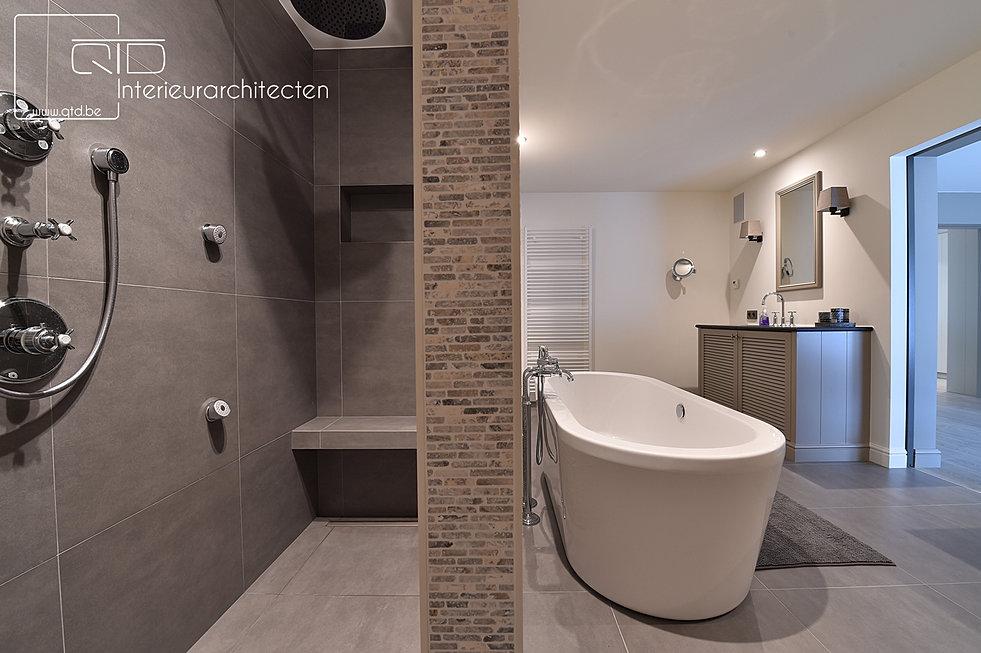badkamer landelijk: slaapkamer met badkamer landelijk design, Badkamer