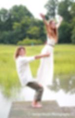 acro balance wedding