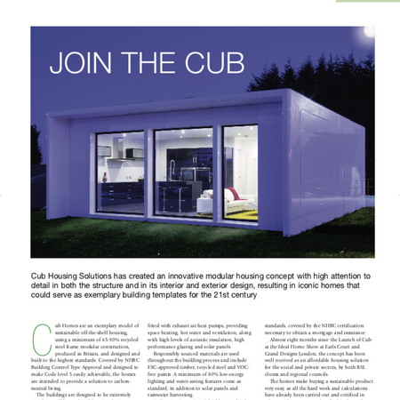 Cub House article