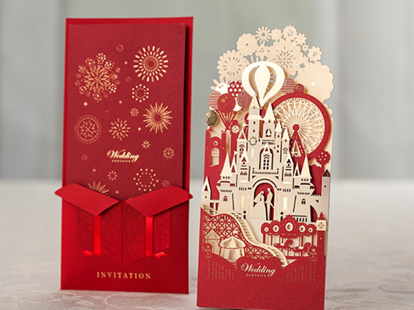 red wedding invitations red laser cut invitations castle laser cut each invitation include 1 x laser cut 1 x inner card 1 x envelope 1 x envelope seal - Red Wedding Invitations