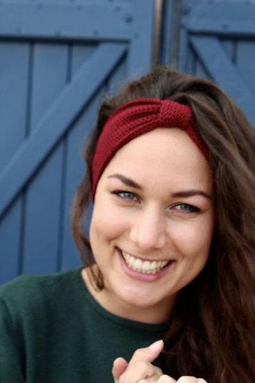 Headband noeud rouge bordeaux