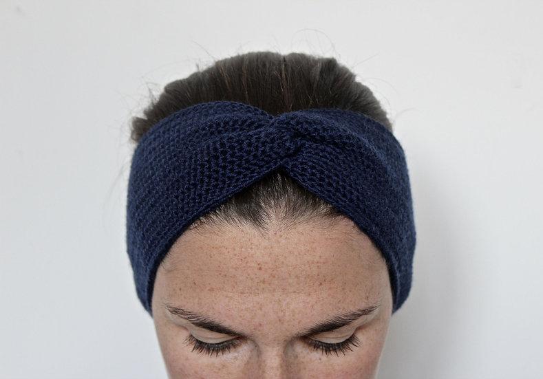 Headband turban bleu marine