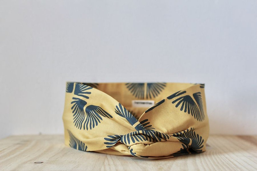 headband bandeau made in France Lyon fabriqué main artisanal artisanat sérigraphie imprimé couture femme coiffure créatrice