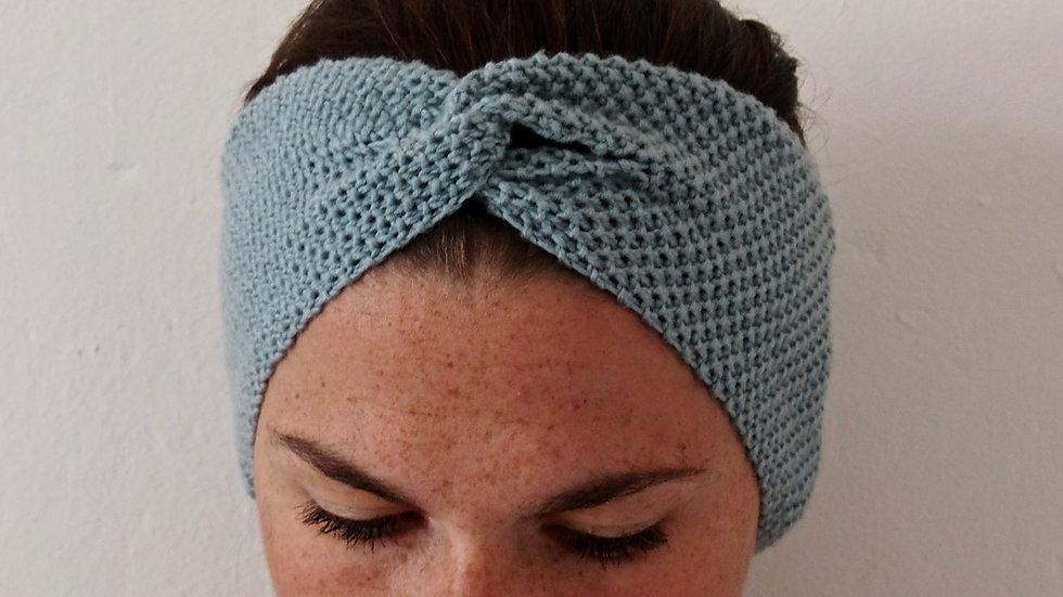 Turban bleu givré