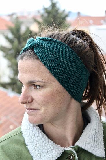 Headband turban vert canard