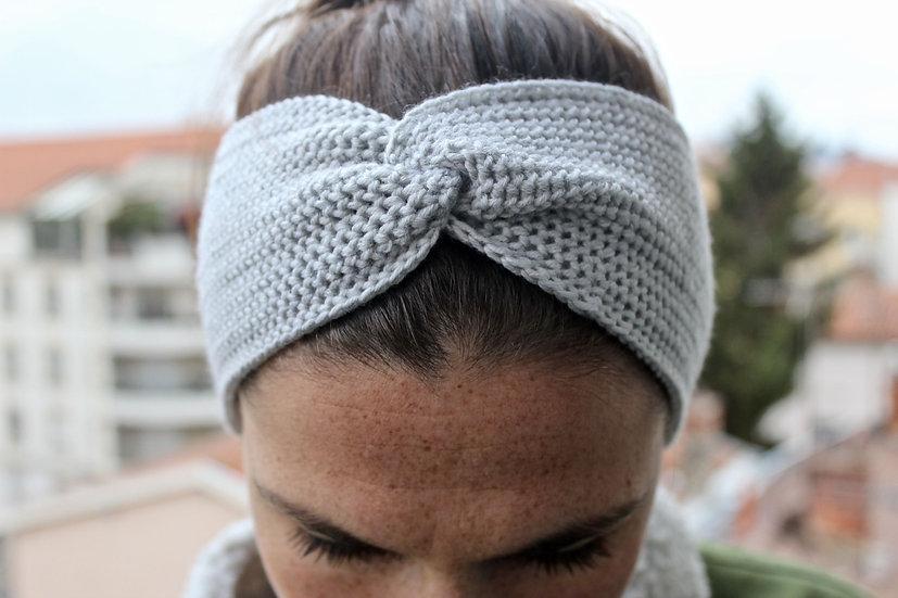 Headband turban gris nuage