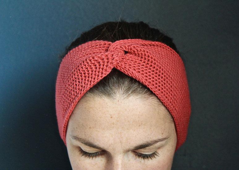 Headband turban corail
