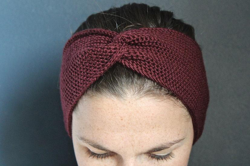 Headband turban auburn