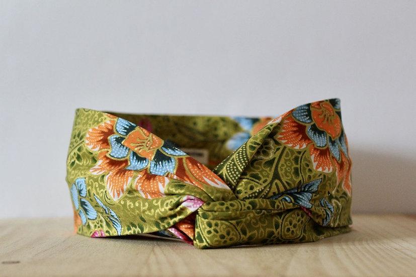 headband bandeau made in France Lyon création créatrice fait main turban tissu wax batik artisanat