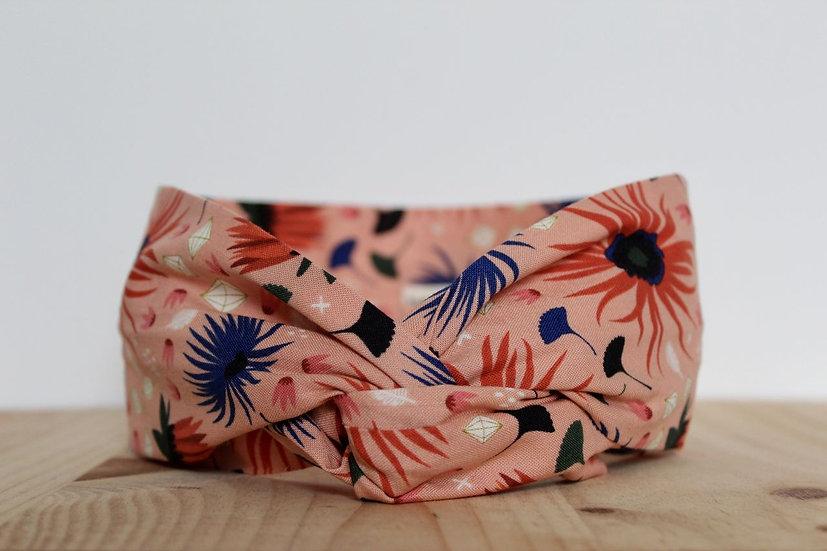 bandeau headband made in France Lyon fait main couture coiffure artisanat cheveux chouchou coton bio biologique ethique