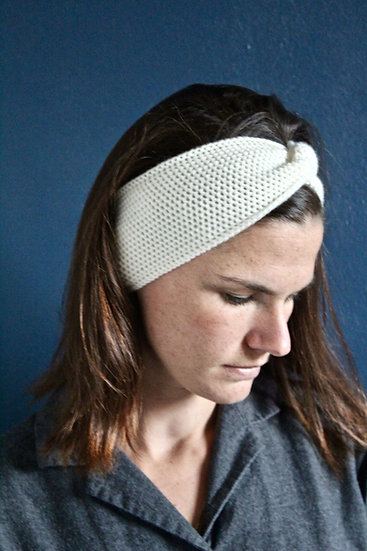Headband turban ivoire