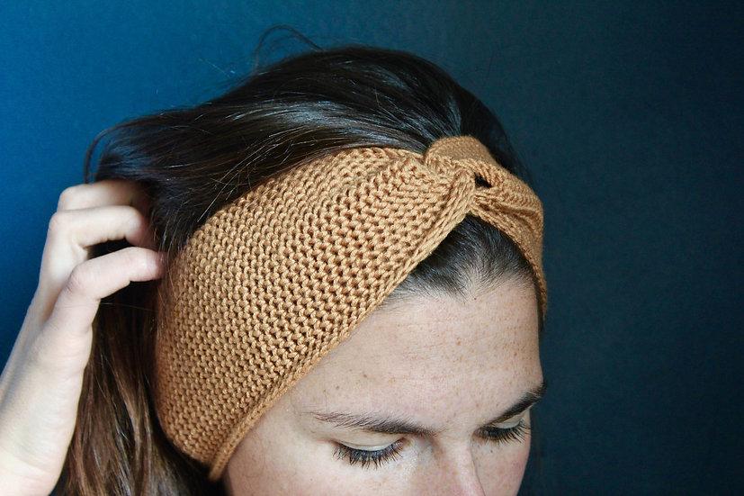 Headband turban ocre
