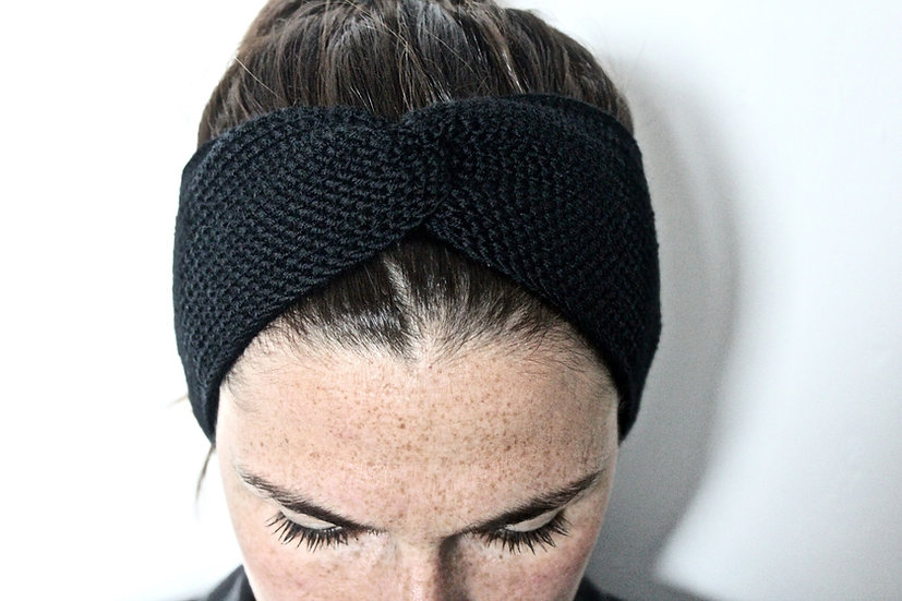 Headband turban noir