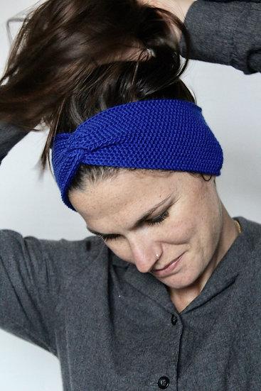 Headband turban bleu électrique