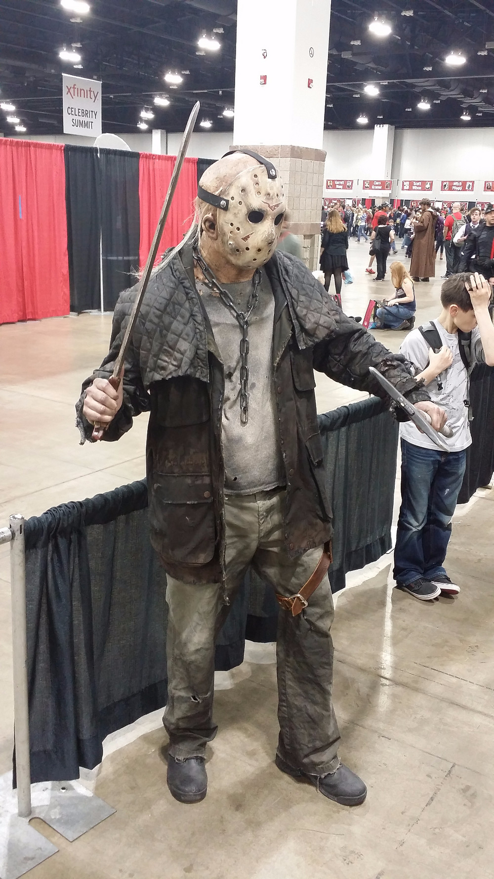One of the best cosplays there was of our good friend Voorhees.