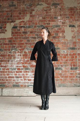 The Diana Wrap Dress in Black