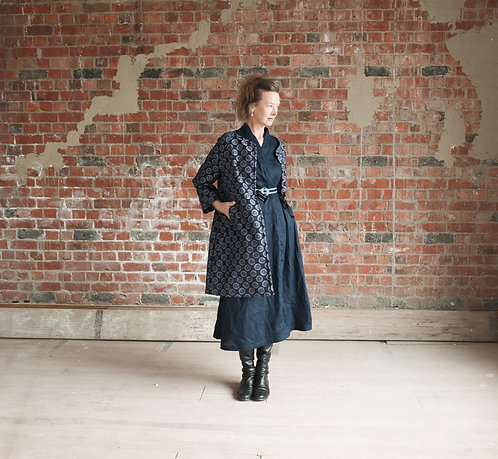 The Camilla Duster Coat in Indigo