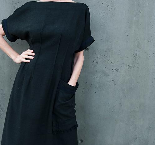 The Natalie Dress in Silk - Black