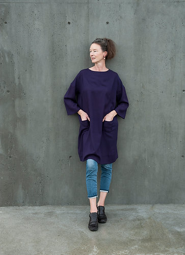 The Hanna Over Dress in Wool