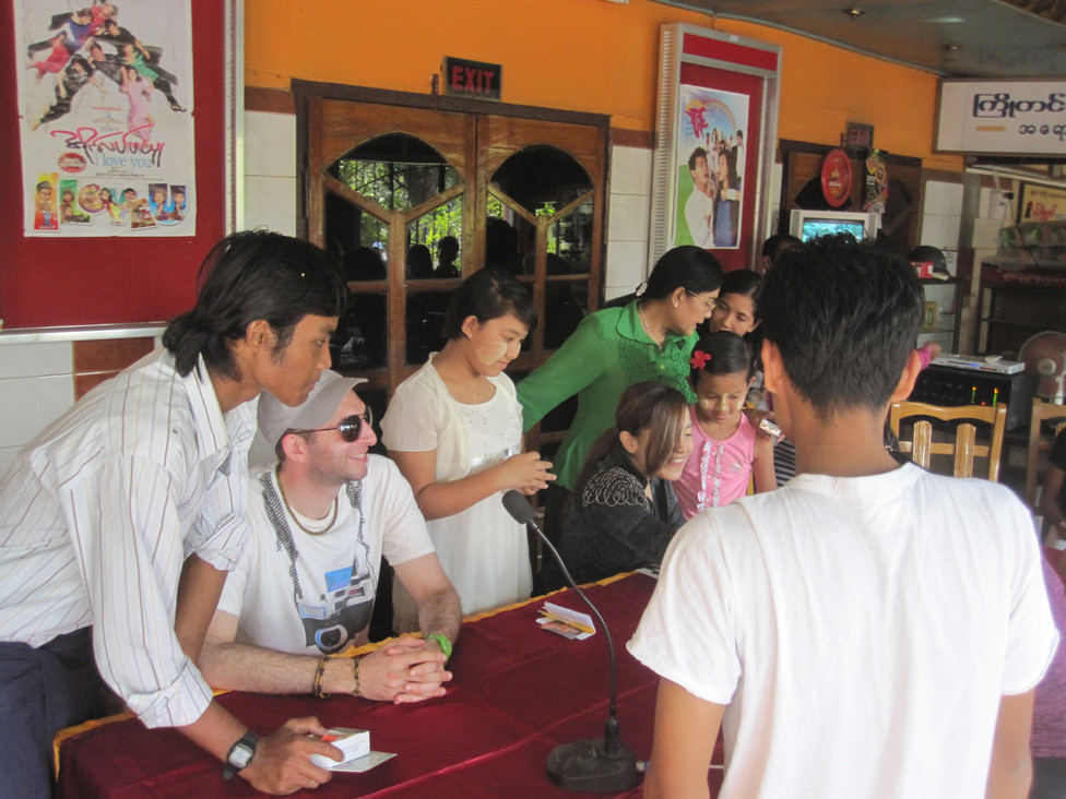 Antithesis at a Signing Event in Sittwe, Rakhine State, Burma / Myanmar