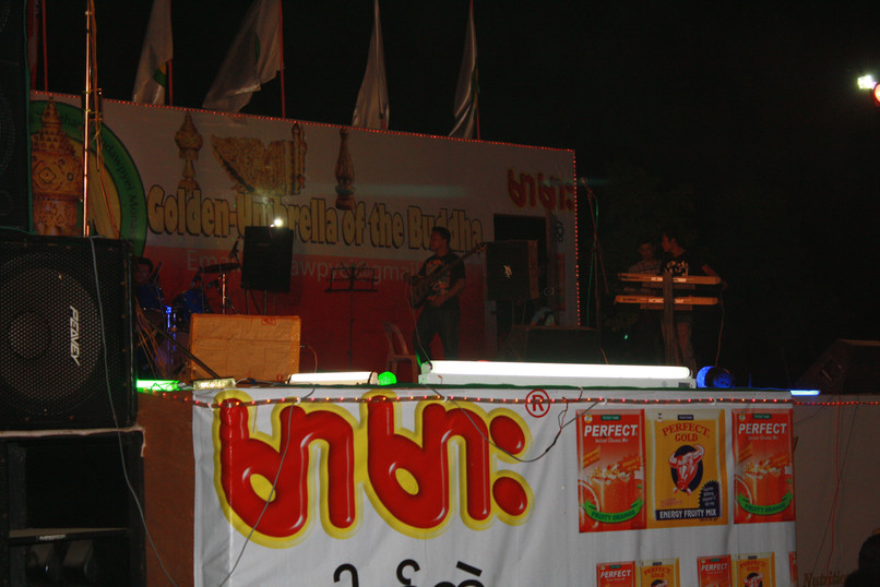 Antithesis the Zionist Rapper Performs at a Pagoda Festival in Sittwe, Rahkine State, Burma / Myanmar