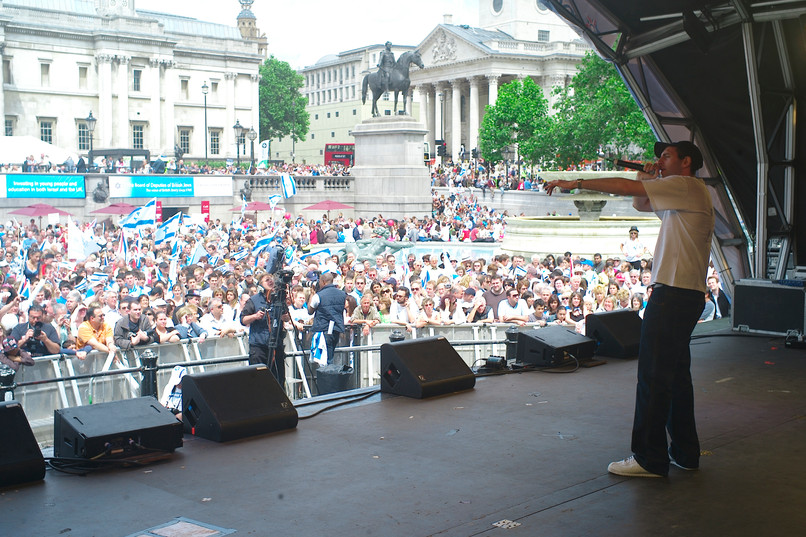 Antithesis the Zionist Rapper Performs in Trafalgar Square