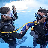 Scuba Students Practicing Out of Air Skill