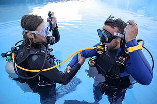 Divers Training in Pool