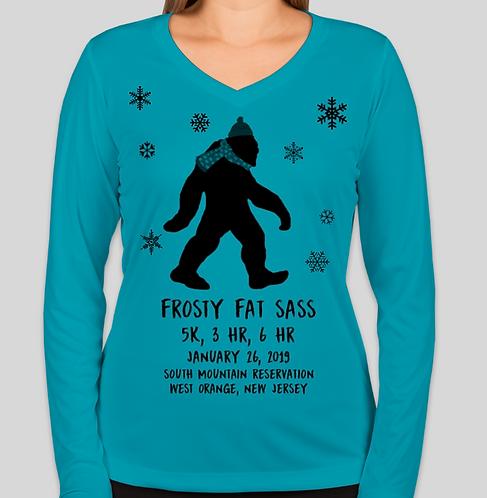 Frosty Fat Sass - Women's Tech Longsleeve
