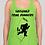 Thumbnail: Sassquad Ladies Neon Green Racerback Tank