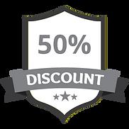 50% Discount Grey