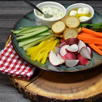 Crudités de Legumes com Queijo de Iogurte