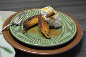 Bananas Carameladas com Merengue