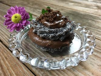Sanduíche de Churros de Chocolate com Creme de Avelã